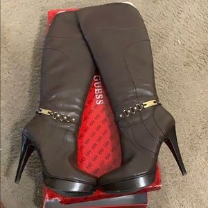 Chocolate brown gas boots